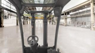 Vista do empilhador H20 – H35 da Linde Material Handling