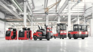 Tratores de reboque e carros de plataforma da Linde Material Handling