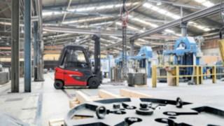 Os E30 da Linde Material Handling em operação na indústria do arame
