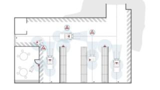As áreas de utilização do Linde Safety Guard são apresentadas numa imagem gráfica.
