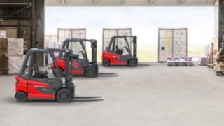 Equipamentos da nova plataforma de empilhadores contrapesados da Linde Material Handling