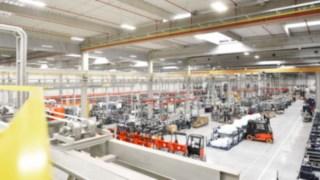 Pavilhão de produção da Linde Material Handling