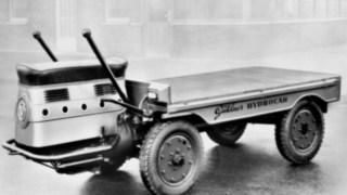 O Hydrocar, um dos primeiros equipamentos de carga da Linde Material Handling