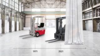 Desenvolvimento do empilhador elétrico da Linde Material Handling