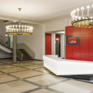 Hall de entrada da Linde Material Handling em Aschaffenburg