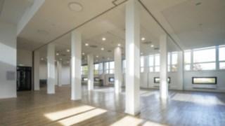 Vista do interior do novo edifício da Linde