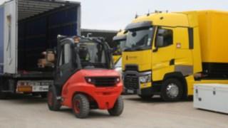 Empilhador com motor de combustão interna Linde MH, Renault Fórmula 1