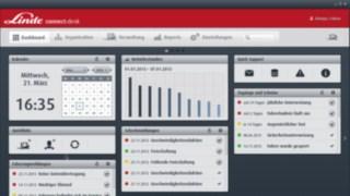 Interface de operação do software de gestão de frotas connect: