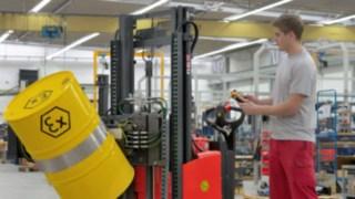 Empilhadores com proteção contra explosão da Linde Material Handling de construção com proteção à prova de explosão