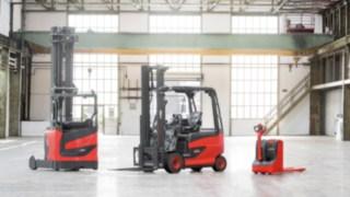 Três séries de produtos de equipamentos de movimentação de cargas da Linde