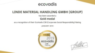 Diploma Linde EcoVadis